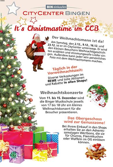 It's Christmastime im CityCenter in Bingen