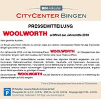 WOOLWORTH eröffnet zur Jahresmitte 2018 eine Filiale im CityCenter