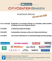 Viele interessante Aktionen in und um das CityCenter in Bingen.