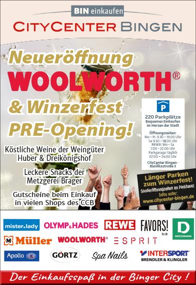 Neueröffnung Woolworth im CityCenter
